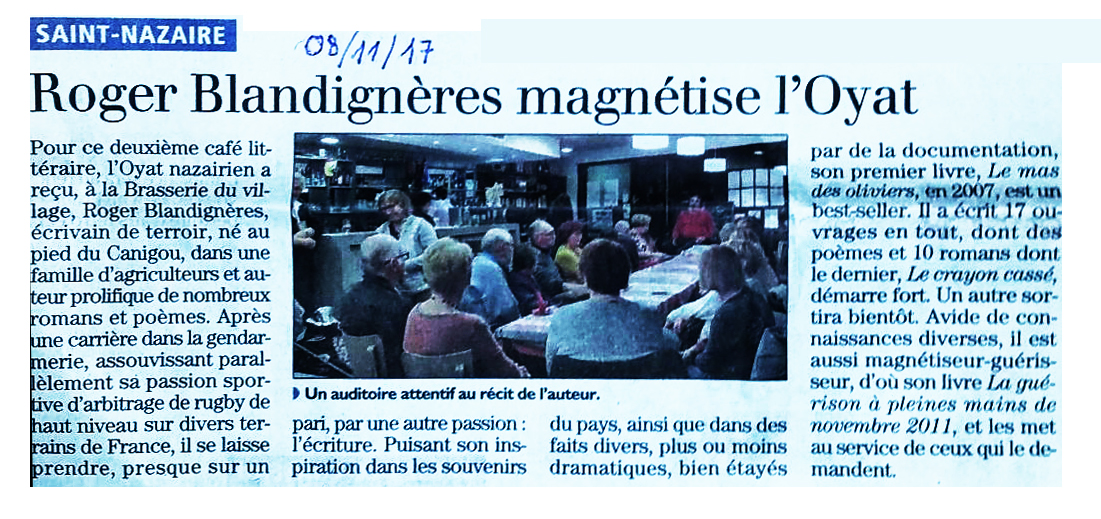 Article blandigneres magnetise